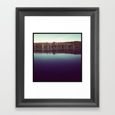 Winter on the Lake Framed Art Print