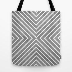 Stripes in Grey Tote Bag