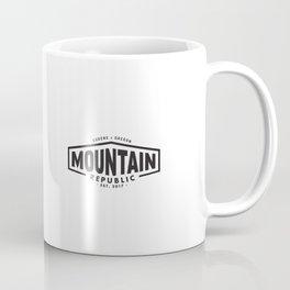 Mountain Logo in Black Coffee Mug