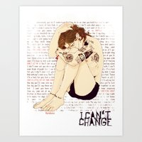 "lyrics Art Prints featuring "" Lyrics "" by Karu Kara"