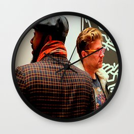 Hey, You Can Wear My Scarf Wall Clock