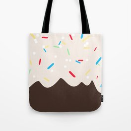 Hot chocolate with whipped cream and sprinkles Tote Bag