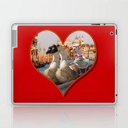Geese on a Romantic Gondola Ride Laptop & iPad Skin