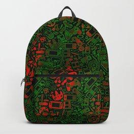 Video Gamer Pattern Vivid Grunge Backpack