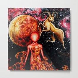 Zodiac Sign - Aries Metal Print