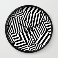 vertigo Wall Clocks featuring Vertigo by Y A Y