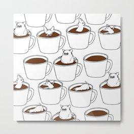 More Coffee Chihuahua Metal Print
