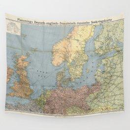 Flemmings Kriegskarten / Flemming's War Maps (1914) - 005 Naval War Map Wall Tapestry