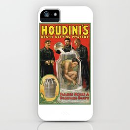 Houdini, vintage poster iPhone Case