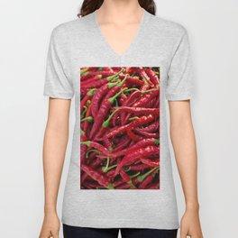 Cayenne Red Pepper Unisex V-Neck