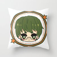 kuroko Throw Pillows featuring midorima by Ichigo Kuriimu