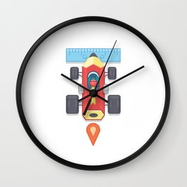 "Creative Drive - ""Car for illustrators"" Wall Clock"