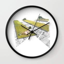 Dreaming of Tokyo Rooftops Wall Clock