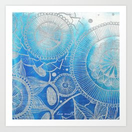 Mandala Hand drawn illustration art Art Print