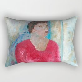 Seated Woman Rectangular Pillow