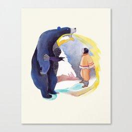 La légende de Carcajou Canvas Print