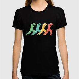 Cricket Player Retro Pop Art Graphic T-shirt