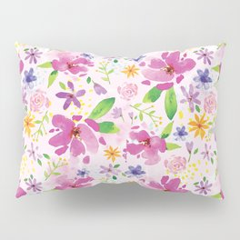Whimsical Girly Flower Pattern Pillow Sham