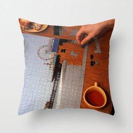 Santa Monica Pier Puzzle Solver Throw Pillow