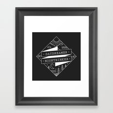 daydreamer nighthinker Framed Art Print