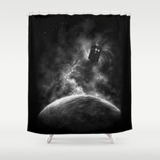 Space and Time Shower Curtain