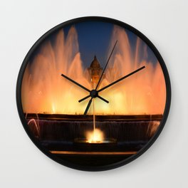Magic Fountain of Montjuic 1 Wall Clock