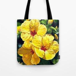 Yellow Hibiscus #18 Tote Bag