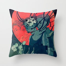 Digital Decade Throw Pillow