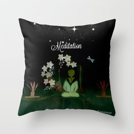 Meditaition by Sherriofpalmsprings Throw Pillow