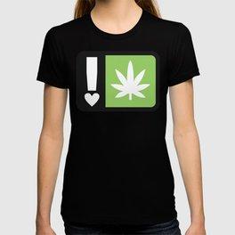 marijuana universal symbol of love T-shirt
