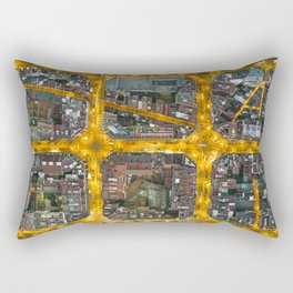 The grid of Barcelona at night Rectangular Pillow