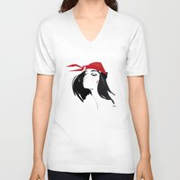 quibe V-neck T-shirts featuring Elektra after Gruau by quibe