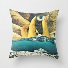 holding up Throw Pillow