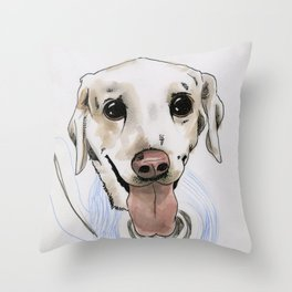 Nellie the Poliwag Throw Pillow