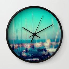 Sailing Harbor at Lake Balaton Wall Clock