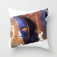 the mask /   Throw Pillow