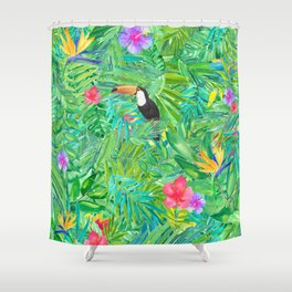 Foret tropicale Shower Curtain