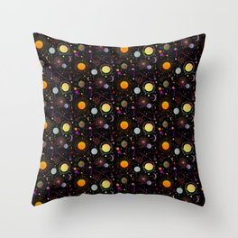Journey into outer space Throw Pillow