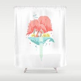 Whale Island Shower Curtain