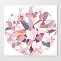 diamond Canvas Prints featuring diamond by Kazuma Shimizu