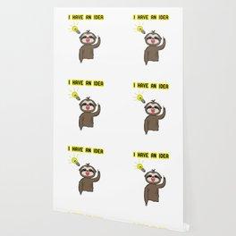 Funny, Lazy But Cute Tshirt Design I have an Idea Sloth Wallpaper