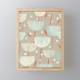 Botanical Block Print M+M Latte by Friztin Framed Mini Art Print