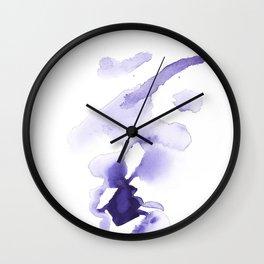 150527 Watercolour Shadows Abstract 77 Wall Clock