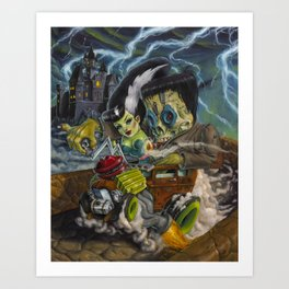 Monster ride. Art Print