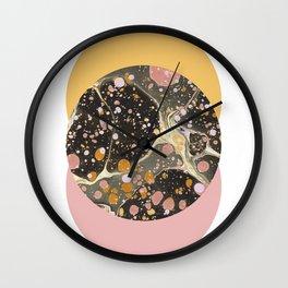 Galactic Coral Wall Clock