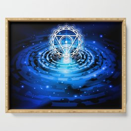 Cosmic Throat Chakra Tapestry Serving Tray