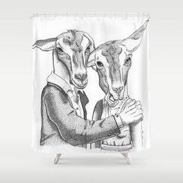 Goats Shower Curtain