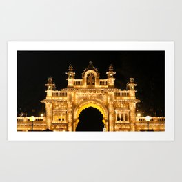 Main Gate of Mysore Palace Art Print