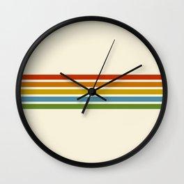 Retro Rainbow Stripes 2 Wall Clock
