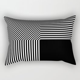 Geometric abstraction, black and white Rectangular Pillow